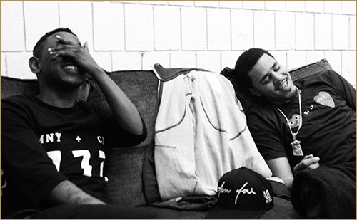 Kendrick Lamar (shown L) J. Cole (shown R)