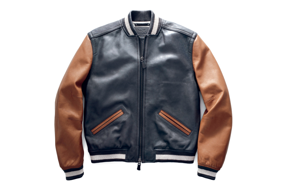 Coach 2014 Pre-Spring/Spring Mens Leather Baseball Jacket