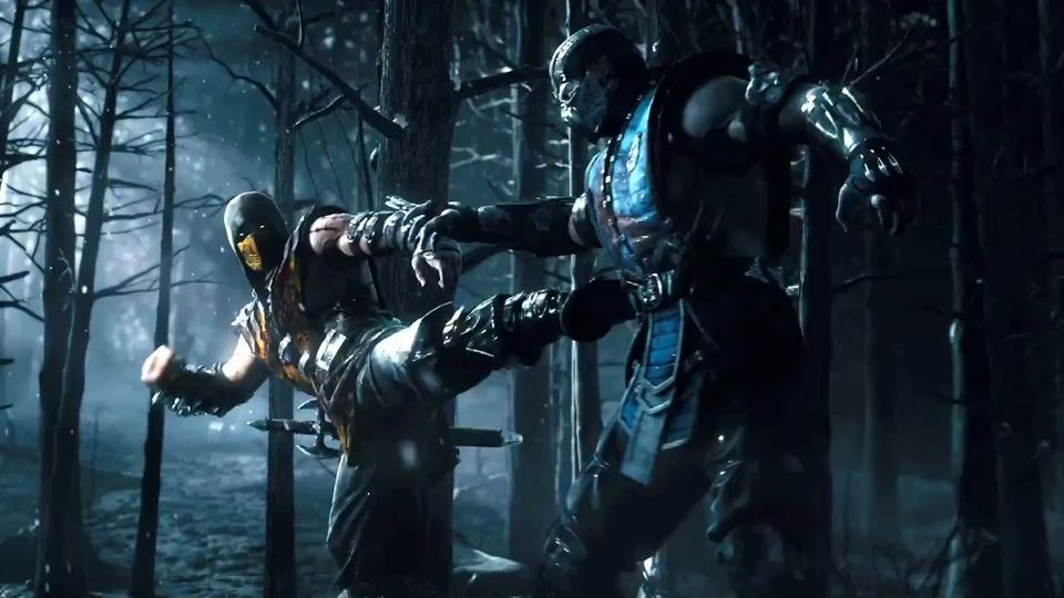 mortal kombat scorpion vs sub zero gif