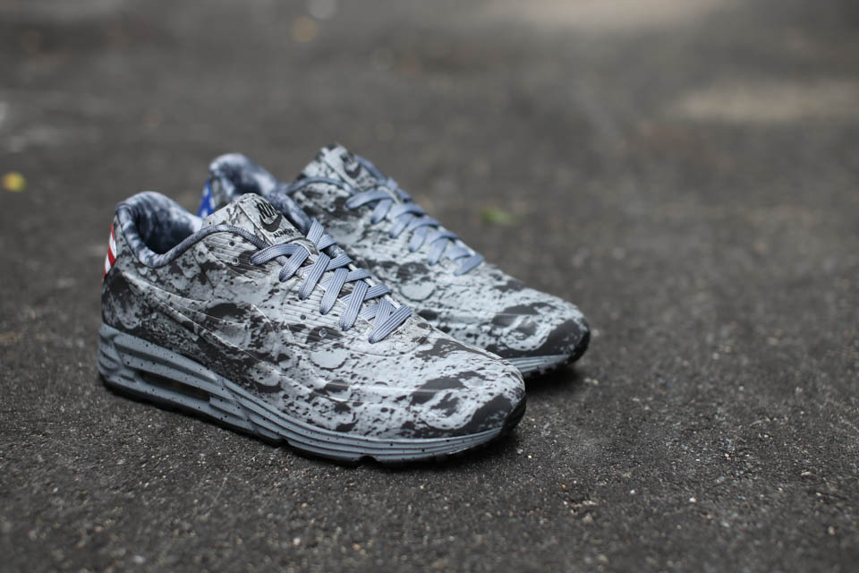 """In celebration of Neil Armstrong's historic trip to the moon (45th  anniversary), Nike presents their special """"Moon Landing"""" edition of the Air  Max Lunar90."""