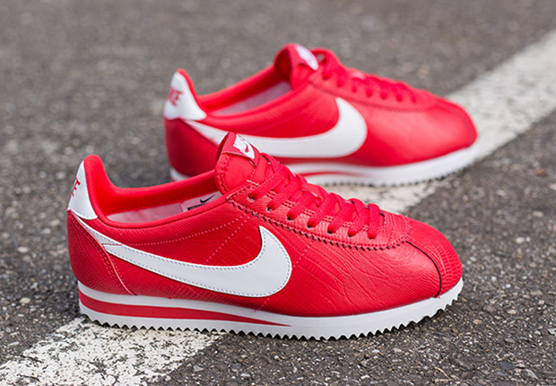 nike cortez womens red and white