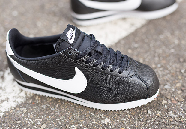 Nike Cortez Black And White Womens