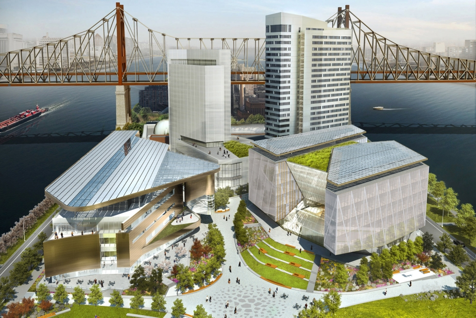 FOR SPECIAL SECTIONS -- Commercial Real Estate 10/21 -- College Construction -- Cornell Tech -- name of the school is Cornell Tech (not Cornell NYC Tech or Cornell Technion). The renderings are of the first phase of the campus on Roosevelt Island that is due to open in 2017.  (CREDIT: Handel Architects)